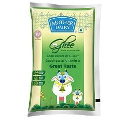 Mother Dairy Cow Ghee 1L for Rs.439 @ Amazon Pantry