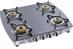 Bajaj CGX10 Glass Top 4 Burner Gas Cooktops for Rs.6222 @ Tatacliq