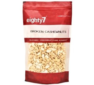 Eighty7 Broken Cashews 4 Piece 1Kg for Rs.699 @ Amazon