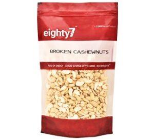 Eighty7 Broken Cashews 4 Piece 1Kg for Rs.699 @ Amazon