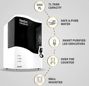 Eureka Forbes AquaSure from Aquaguard Delight (RO+UV+MTDS) 7L water purifier