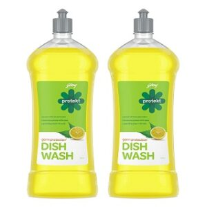Godrej Protekt Germ Protection Dish Wash Liquid Gel Lime (750ml x 2) for Rs.233 @ Amazon