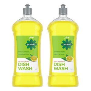 Godrej Protekt Germ Protection Dish Wash Liquid Gel Lime (750ml x 2) for Rs.217 @ Amazon