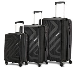 Kamiliant by American Tourister Kiza Combo (set of 3) 4-wheel Suitcase for Rs.6999 @ Amazon