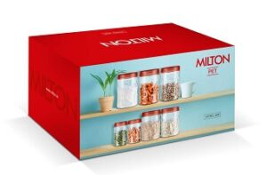 Milton Vitro Plastic Jar Set 18 Pieces for Rs.399 @ Amazon