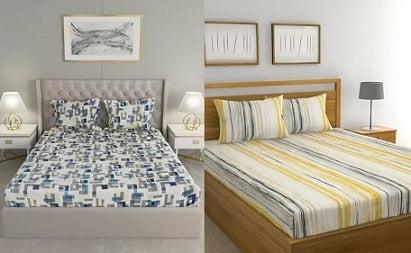 Raymond Home Cotton Bedsheet Flat 70% off