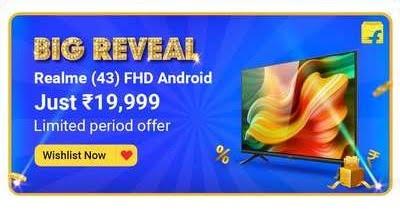 Realme 108cm (43 inch) Full HD LED Smart Android TV for Rs.19999 @ Flipkart