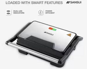Sansui Panini Swage Grill (Steel Black) for Rs.1199 @ Flipkart