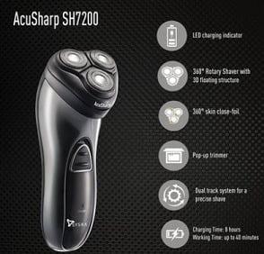 Syska AcuSharp SH7200 Shaver for Rs.1199 @ Tatacliq