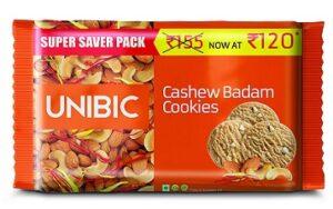 Unibic Cashew Badam Cookies, 500 g for Rs.61 @ Amazon Pantry