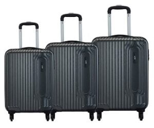 VIP Trace Graphite Polycarbonate Hardsided Luggage Set of 3 for Rs.7999 @ Amazon