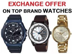 Flipkart Offer: Exchange Men's & Women's Top Brand Watches – Min 40% Off @ Flipkart