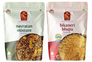Bhikharam Chandmal Navratan Mixture 1kg & Bhujiya 1kg Combo Pack for Rs.374 @ Amazon