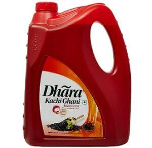Dhara Kachhi Ghani Mustard Oil Jar 5L for Rs.679 @ Amazon Pantry