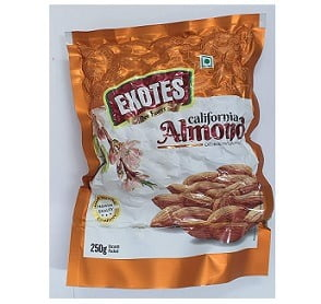 Exotes Popular Almonds Vacuum Pouch 1 Kg (250g x4) for Rs.695 @ Amazon