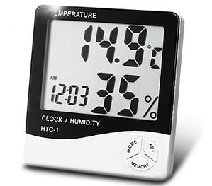 HTC Instrument 103-CTH Digital Indoor Hygrometer Thermometer with Clock for Rs.277 @ Amazon