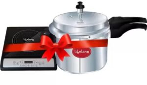 Lifelong LLCMB13 1400 W Induction Cooktop with IB 3 Ltr Outer Lid Pressure Cooker