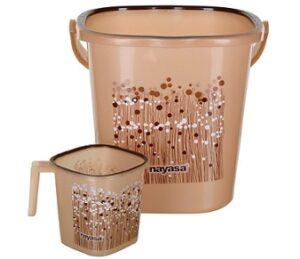 Nayasa 2 Piece Plastic Bathroom Bucket and Mug for Rs.562 @ Amazon