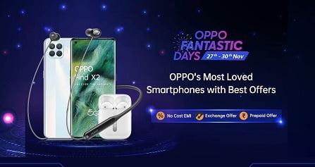 Oppo Fantastic Days Offer on Mobile @ Amazon (27th – 30th Nov'20)