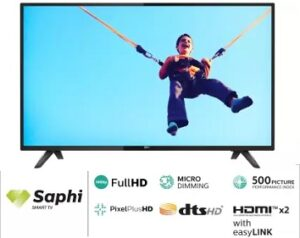 Philips 108cm (43 inch) Full HD LED Smart TV for Rs.23999 @ Flipkart