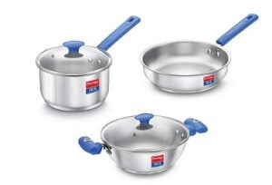 Prestige Platina Special BYK Stainless Steel Cookware set (Gas and Induction compatible) for Rs.2169 @ Amazon