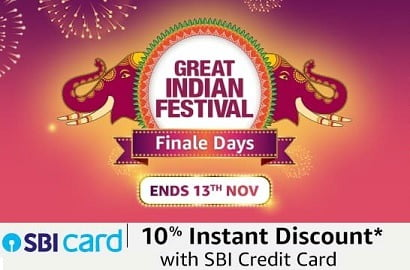 Amazon Great Indian Festival: Deep Discounted Deals & Offers+10% Extra off with SBI Credit Card (LAST DAY)