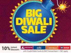 Flipkart Big Diwali Sale (8th-13th Nov) – 10% Discount on AXIS, CITI, ICICI, KOTAK Card (LAST DAY)