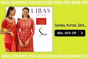Libas, W, Aurelia – Saree, Kurtas, Sets & Bottoms 50% – 70% Off @ Flipkart