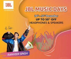 JBL Music Days: Headphones & Speakers upto 50% off @ Amazon