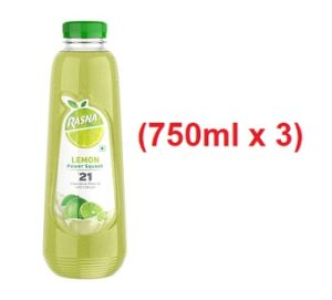 Rasna Squash Lemon (750mlx3)