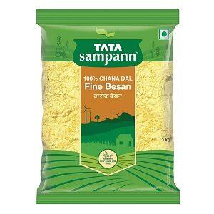 Tata Sampann Fine Besan 100% CHANA DAL 1kg for Rs.95 @ Amazon