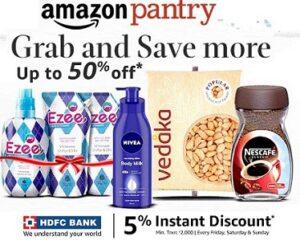 Amazon Pantry Groceries upto 50% off