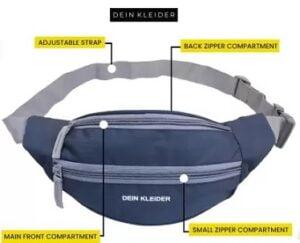 Dein Kleider Sports Waist Pouch Bag for Men & Women