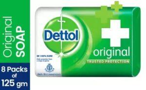 Dettol Bathing Bar Soap Original (8 x 125g) worth Rs.400 for Rs.279 @ Flipkart