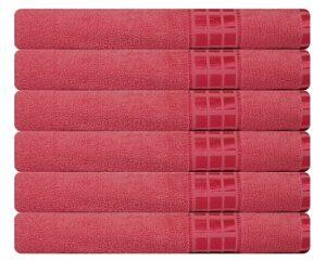 Eurospa Set of 6 Cotton Bath Towel