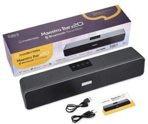 Modernista Maestro Bar 20W Bluetooth Soundbar Speaker with 2400mah Battery/BT v5.0/Aux/USB Port for Rs.1249 @ Amazon