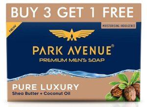 Park Avenue Premium Men's Soap Shea Butter+ Coconut Oil (125g x 4) for Rs.105 @ Amazon