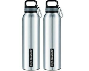 Signoraware Concept 750ml (Combo Single Walled Stainless Steel Fridge Water Bottle) for Rs.334 @ Amazon