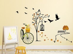 Solimo Wall Sticker for Living Room (140 cm x 100 cm)