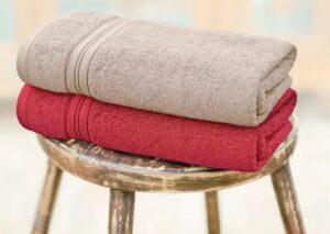 Swiss Republic Cotton 480 GSM Bath Towel (Pack of 2)