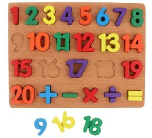 Webby Wooden Counting Numbers (1 to 20) Educational Toy Tray for Rs.399 @ Amazon