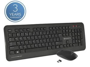 Amkette Wi-Key Plus 2.4 GHz USB Wireless Keyboard & Mouse Combo for PC