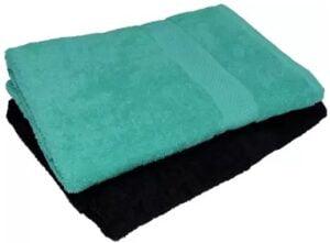 NANDAN GEMS Cotton 380 GSM Bath Towel Set (Pack of 2)