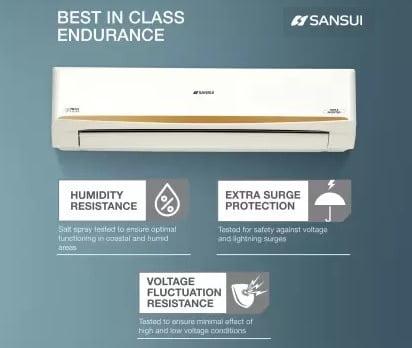 Sansui 1.5 Ton 5 Star Split Triple Inverter AC with PM 2.5 Filter (Copper Condenser)