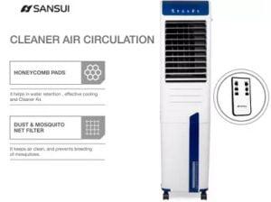 Sansui 47 L Tower Air Cooler Aero E47 with Remote Control
