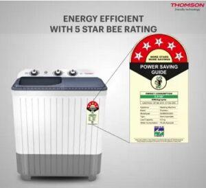 Thomson 6.5 kg 5 Star Rating Smart Pro Wash Technology Semi Automatic Machine for Rs.6990 @ Flipkart