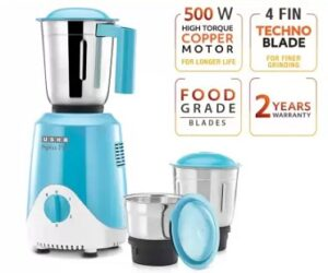 USHA RapidMix 500-Watt Copper Motor Mixer Grinder with 3 Jars for Rs.1949 @ Amazon