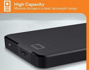 Western Digital Elements 4TB Portable External Hard Drive