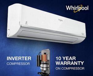 Whirlpool 1.5 Ton 3 Star Inverter Split AC (Copper, 1.5T MAGICOOL PRO+ 3S COPR INVERTER) for Rs.27990 @ Amazon