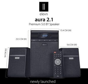 elevn Aura 2.1 Deep Bass Premium 5.0 BT Multimedia Speaker with 80 Watts Peak Output for Rs.2790 @ Amazon